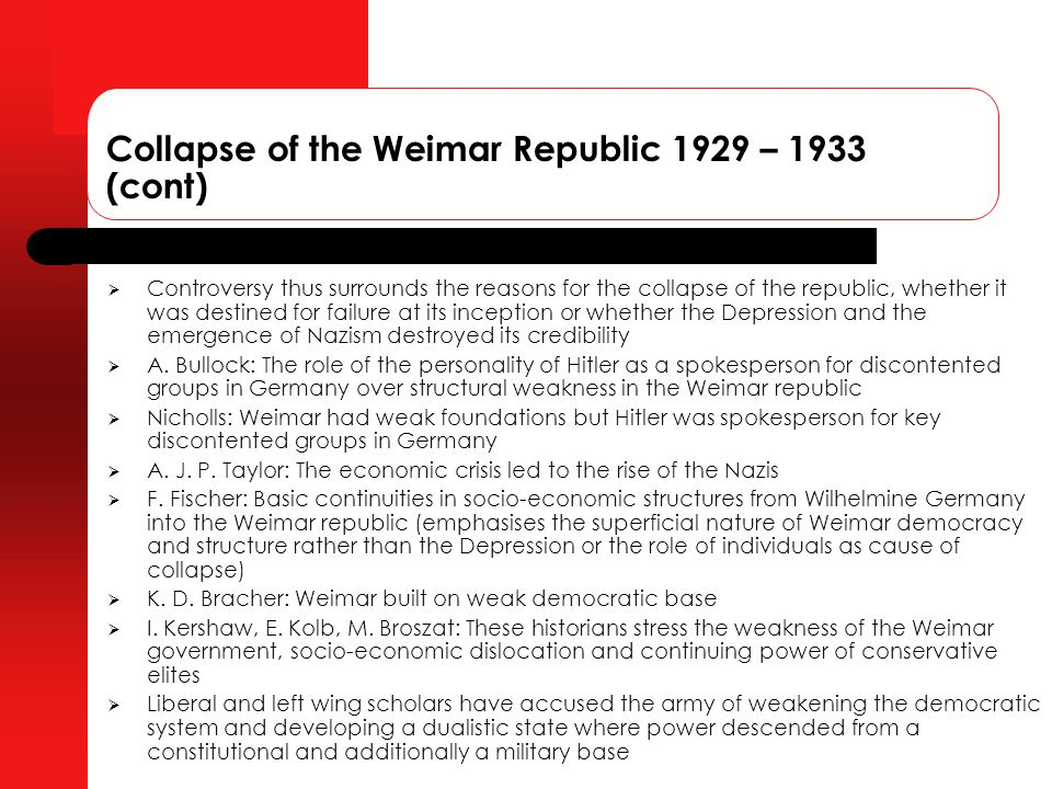 an examination of the weakness of the constitution that led to the failure of the weimar republic in What is proportional representation in weimar political weaknesses of the weimar republic holocaust fascism assessing constitution weimar republic.