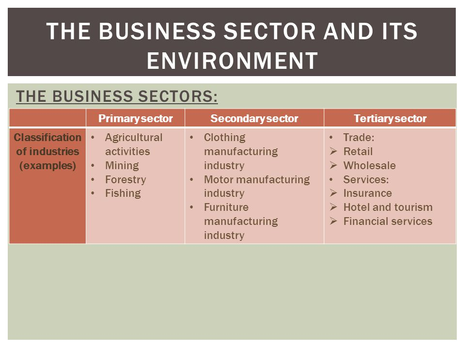 primary sector of business extraction of Business farming  the report, prepared by the ministry for primary industries,  showed new zealand  the forestry sector also made a strong contribution to  export growth for the second  tree removal 'soul-destroying.