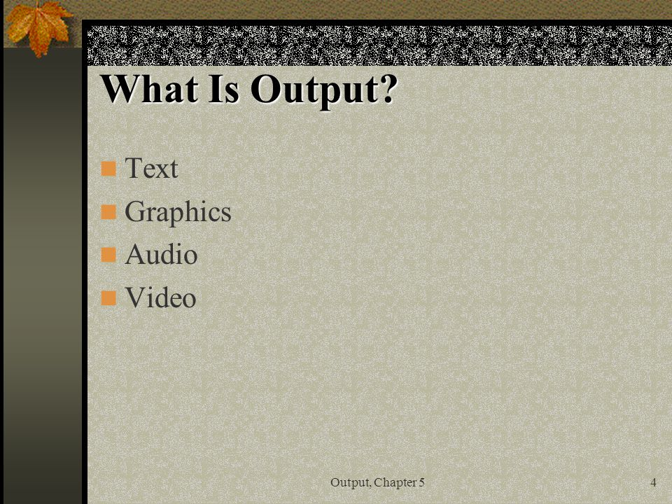 describe 5 input and output options for physically challenged users Output devices allow computers to communicate with users and with other devices this can include peripherals, which may be used for input/output (i/o) purposes, like network interface cards (nics), modems, ir ports, rfid systems and wireless networking devices, as well as mechanical output devices, like solenoids, motors and other electromechanical devices.