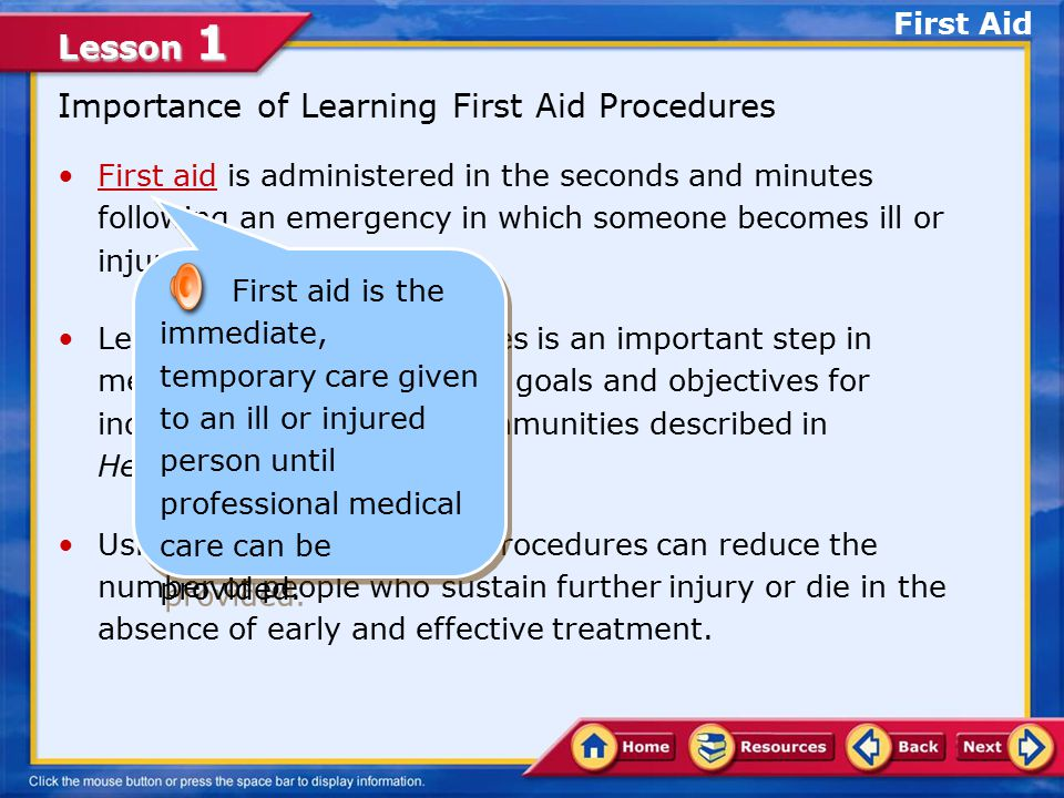 importance of first aid essay Although there is a first aid kit almost everywhere you go, public or private, there   it is always important to keep your first aid kit up-to-date.