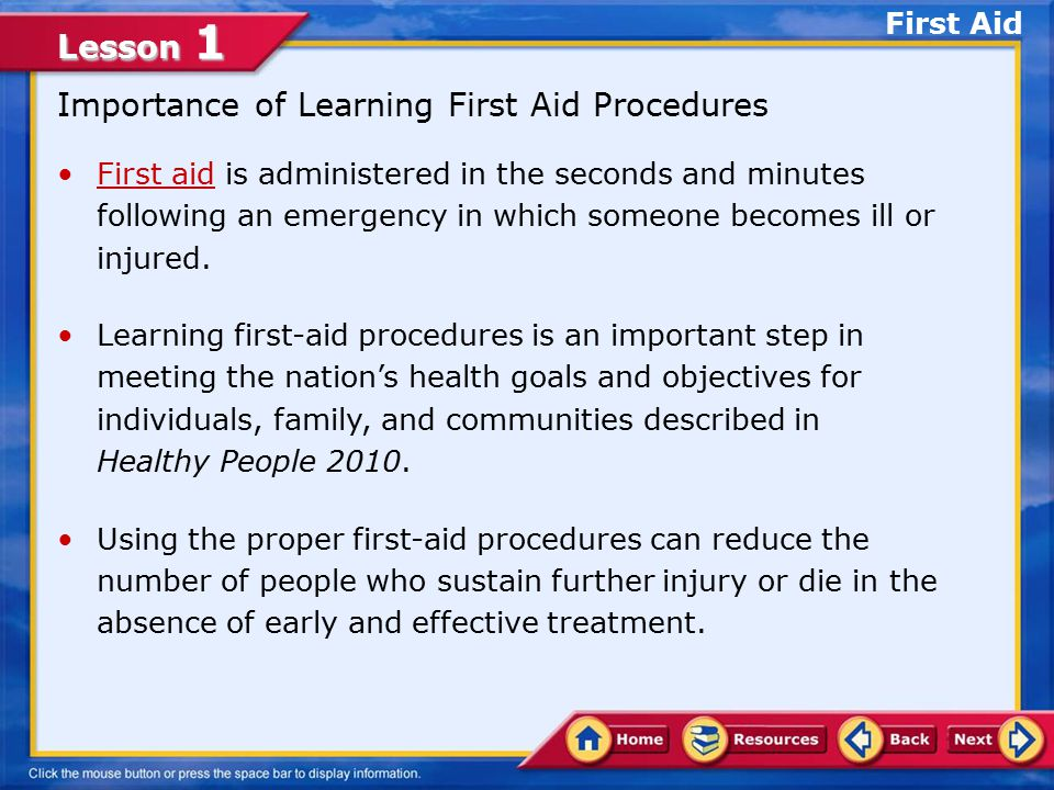 Importance of Learning First Aid Procedures