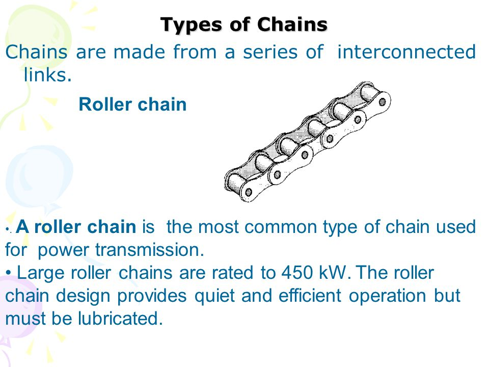 Chains are made from a series of interconnected links.