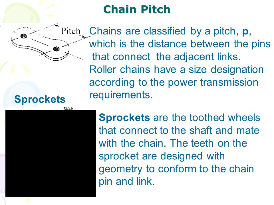Chains are classified by a pitch, p,