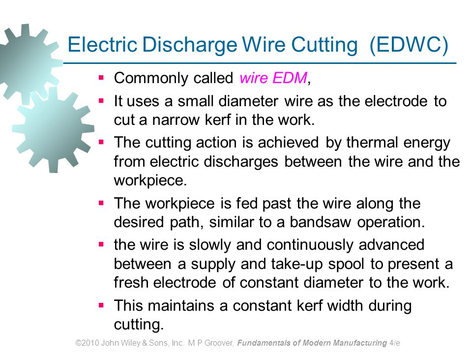 non traditional machining and thermal cutting process ppt download Wire EDM Projects wire edm schematic diagram
