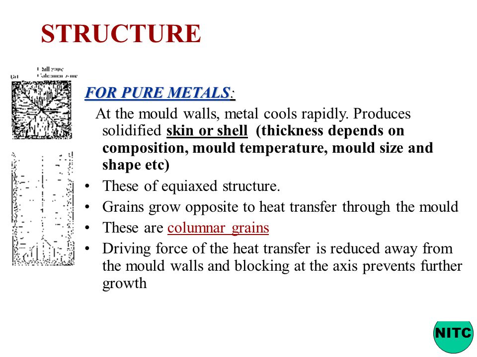 STRUCTURE FOR PURE METALS: