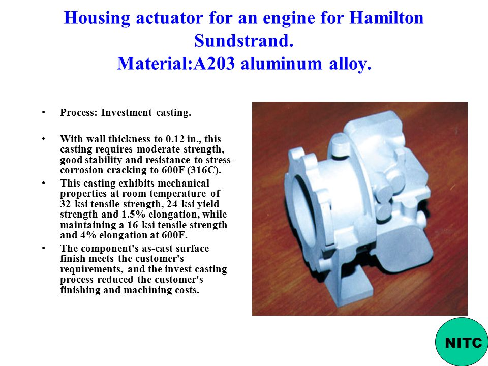 Housing actuator for an engine for Hamilton Sundstrand