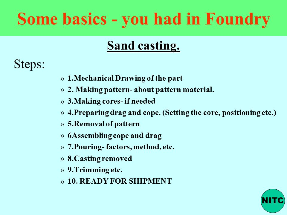 Some basics - you had in Foundry
