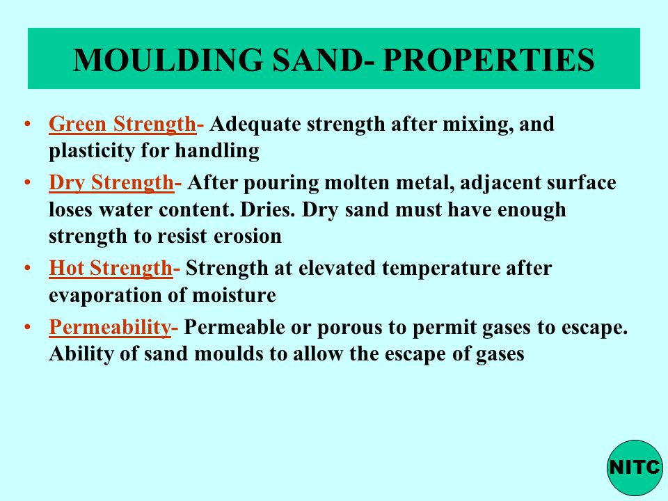 MOULDING SAND- PROPERTIES