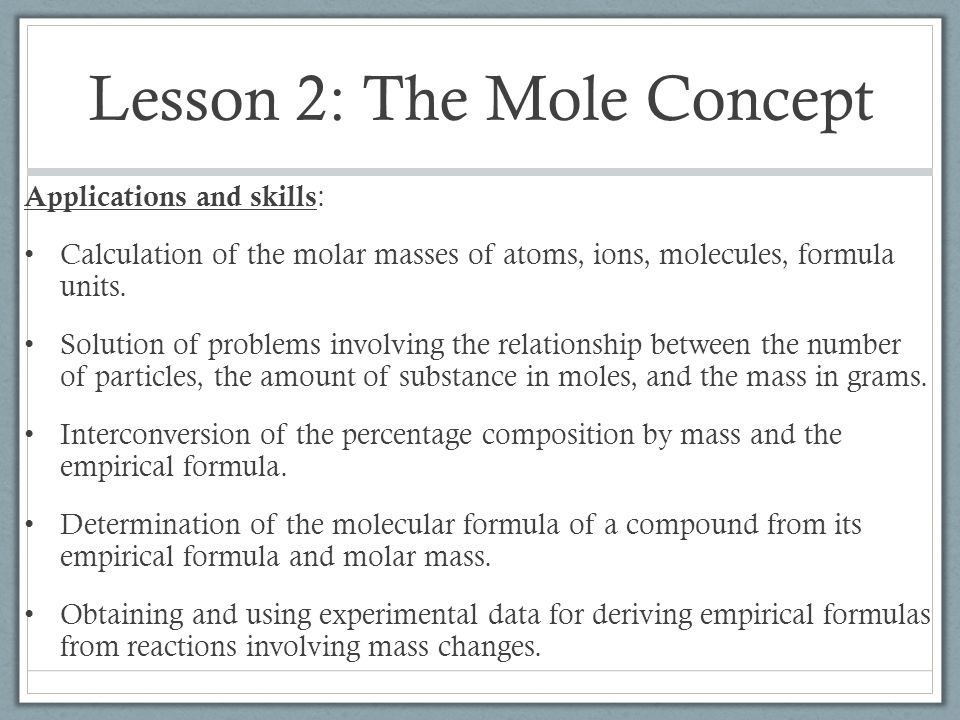 the molar relationship involving mass and volume lab