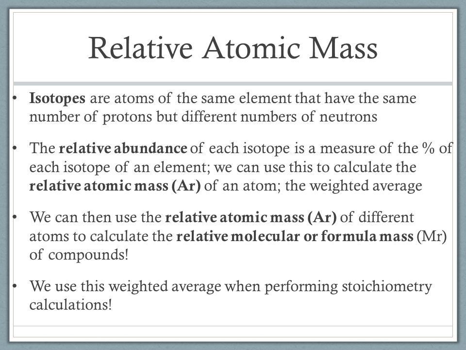 atomic mass and number relationship finder