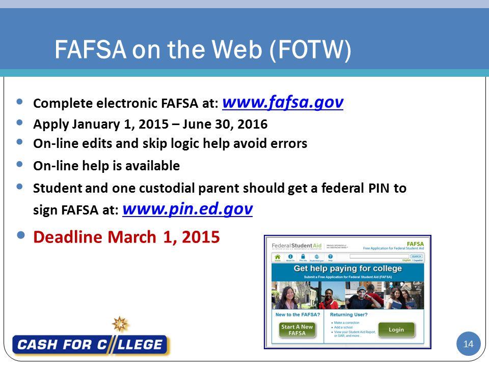 Fafsa due date in Perth