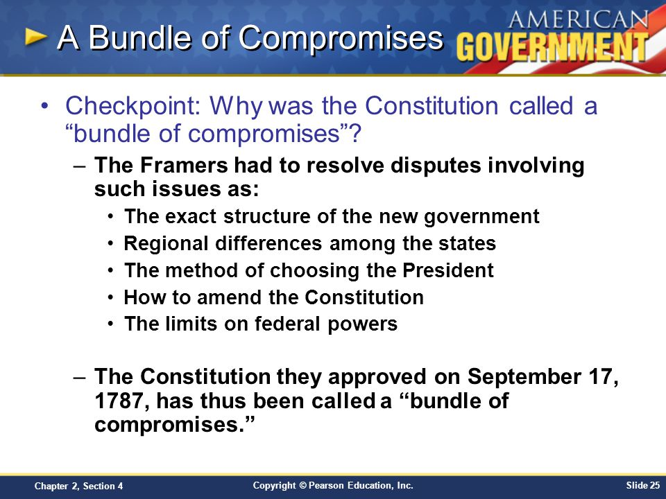 why our constitution called bundle compromises It was called a bundle of compromises because there were many compromises to create the constitution like the great compromise.
