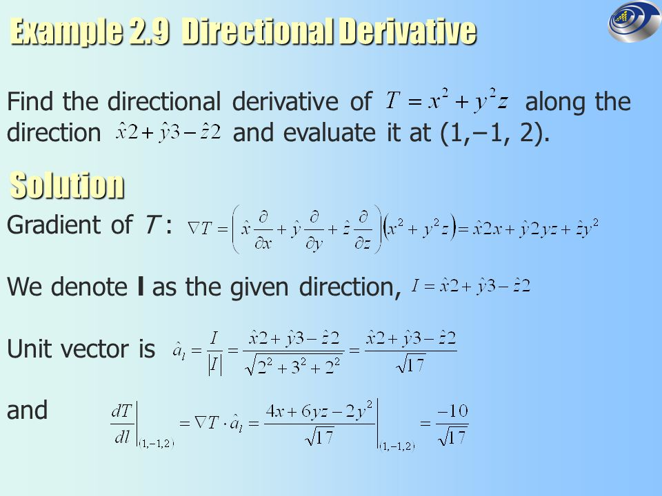 how to find u for a given directional derivative