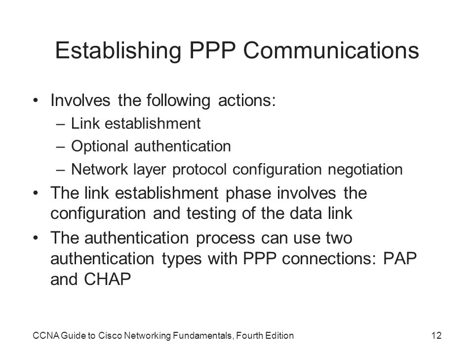 Establishing PPP Communications