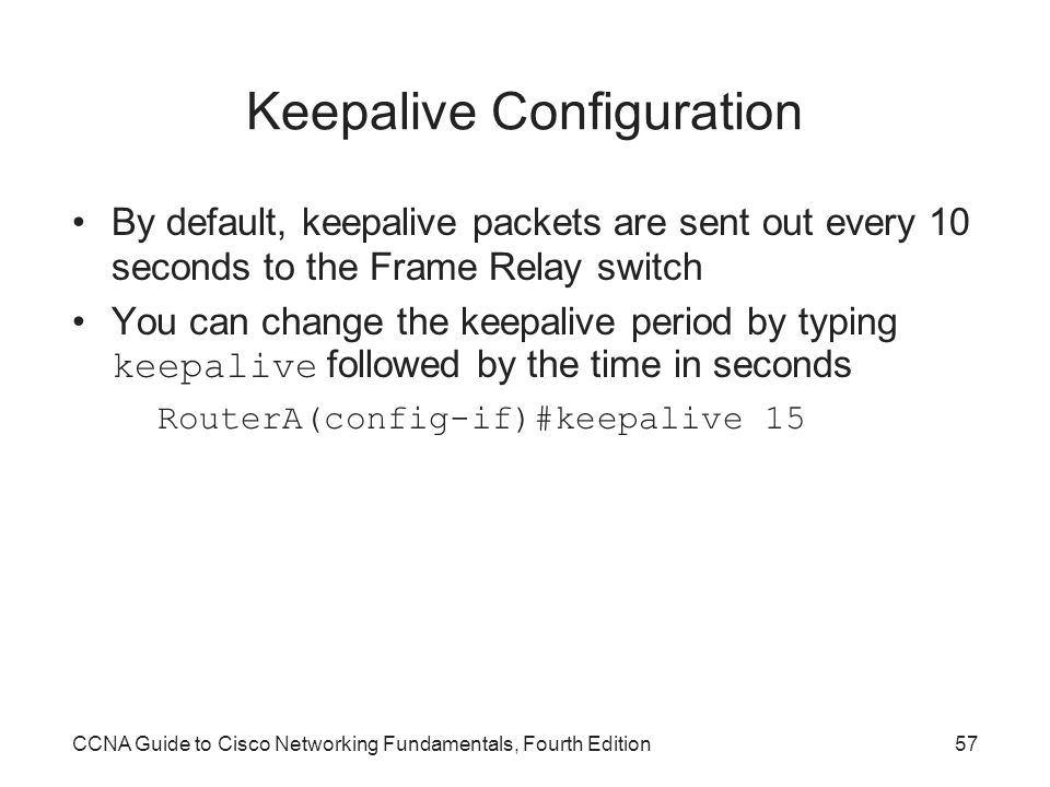 Keepalive Configuration