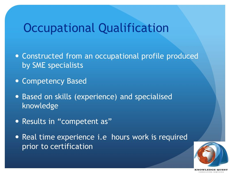 Occupational Qualification