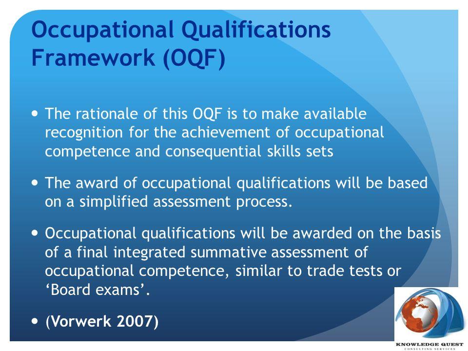 Occupational Qualifications Framework (OQF)