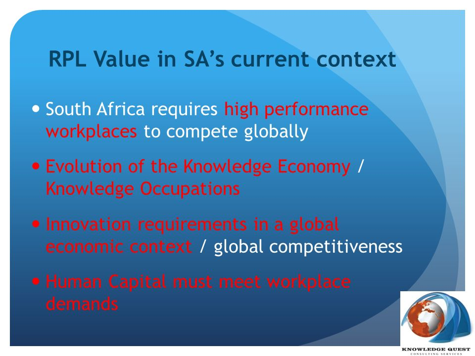 RPL Value in SA's current context