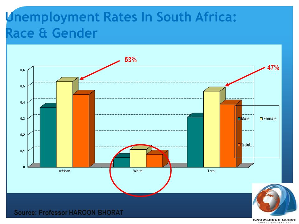 Unemployment Rates In South Africa: Race & Gender
