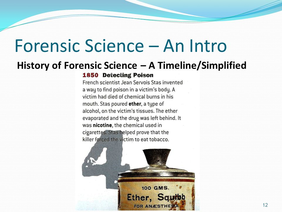 history forensic science