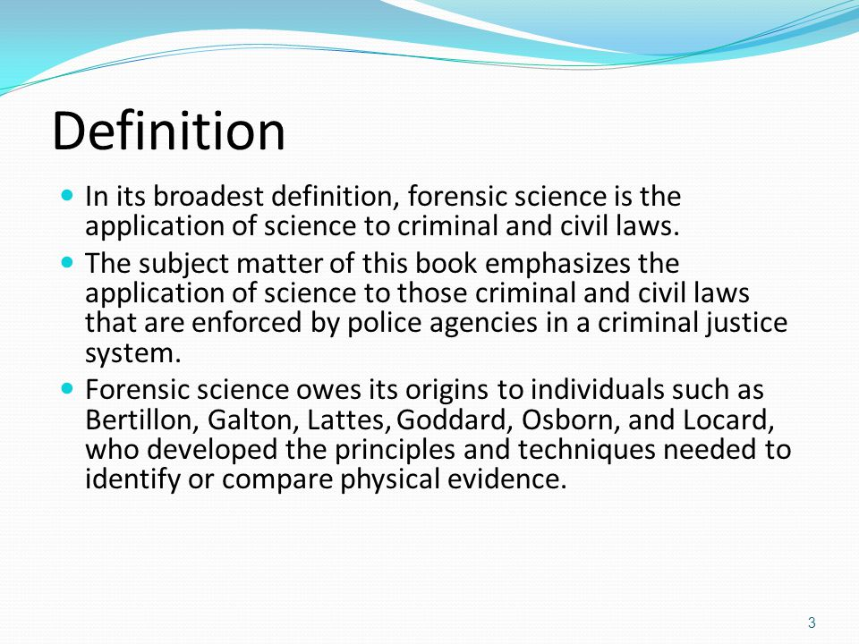 define country criminal in application an introduction to forensic science ppt