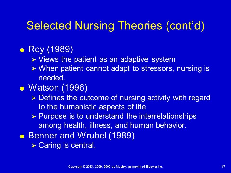 benner and wrubel s theory Patricia e benner, rn, phd, faan is a professor emerita at the  published ' novice to expert theory' in 1982 received book of the year.