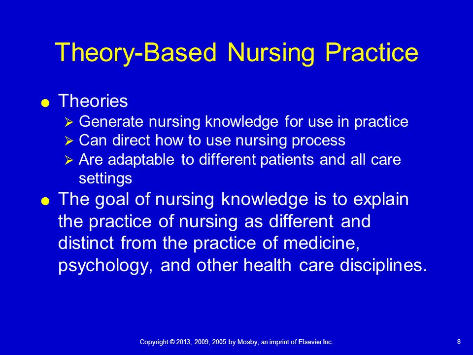 theory informs practice Being uniquely situated to provide holistic care to people in need of comprehensive healthcare, nurse practitioners use caring theory in their everyday practice.