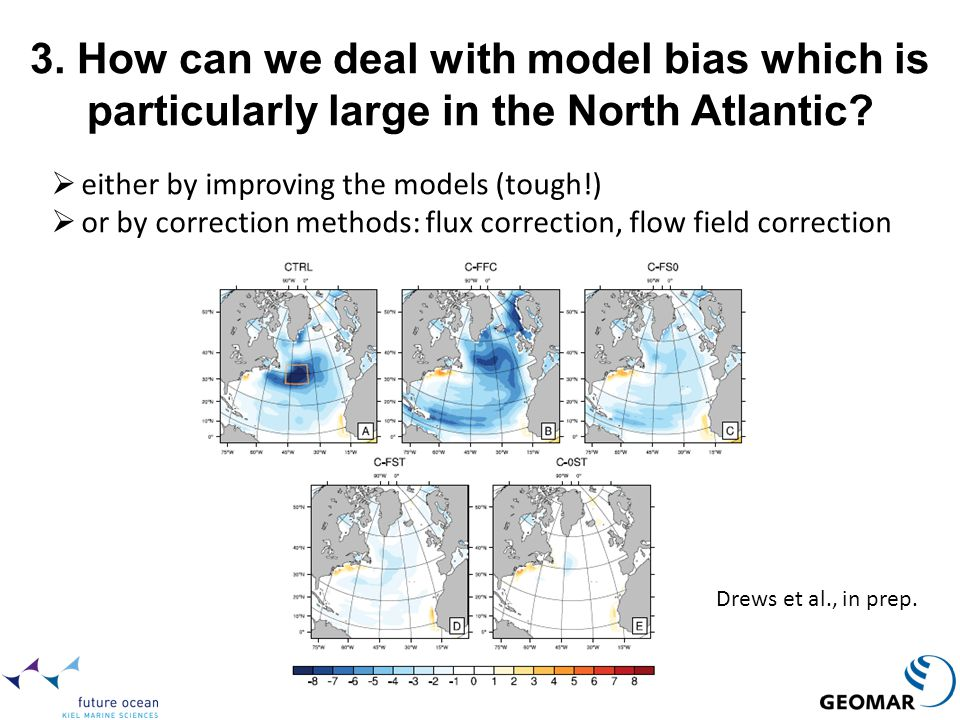 3. How can we deal with model bias which is particularly large in the North Atlantic