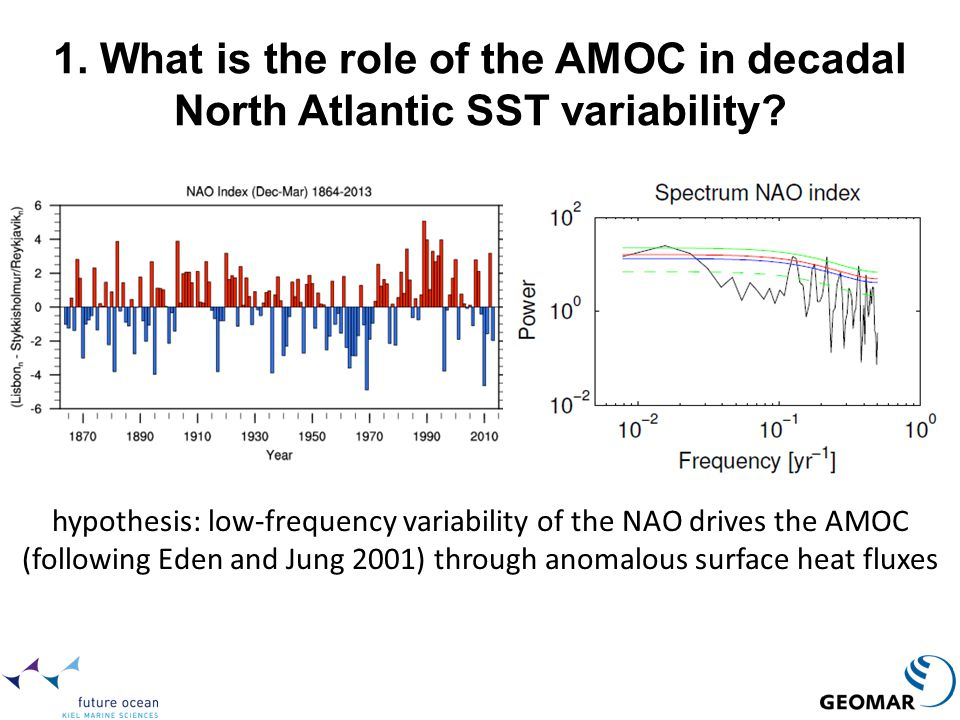 1. What is the role of the AMOC in decadal North Atlantic SST variability