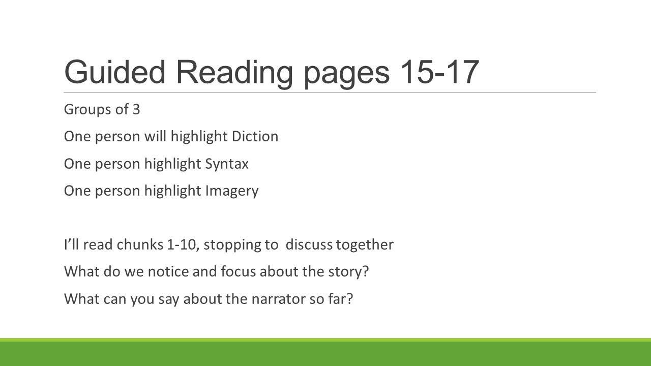 Diction, Denotation, Connotation. 6 Guided ...