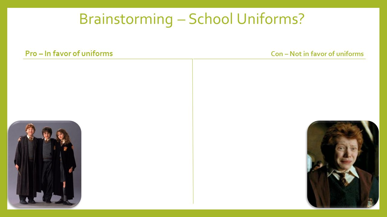 Persuasive Essay School Uniforms