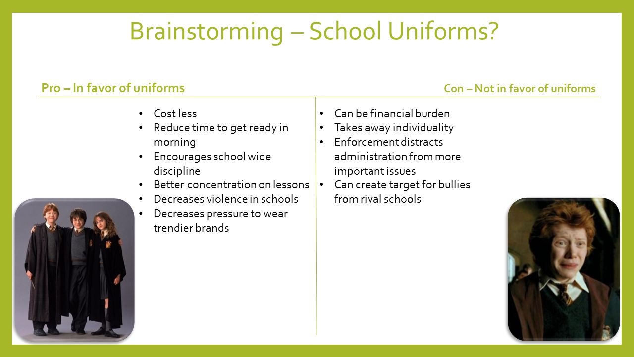 Argumentative Essay: School Uniform