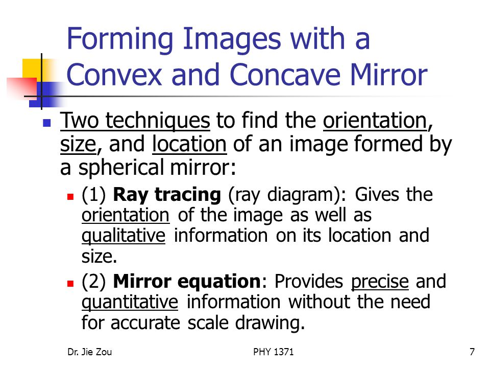 Forming Images with a Convex and Concave Mirror