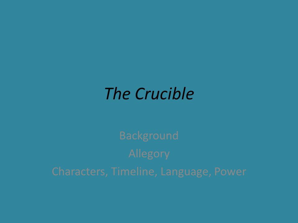the crucible theocracy Effects of theocracy: the crucible by arthur miller free essays, term papers and book reports thousands of papers to select from all free.