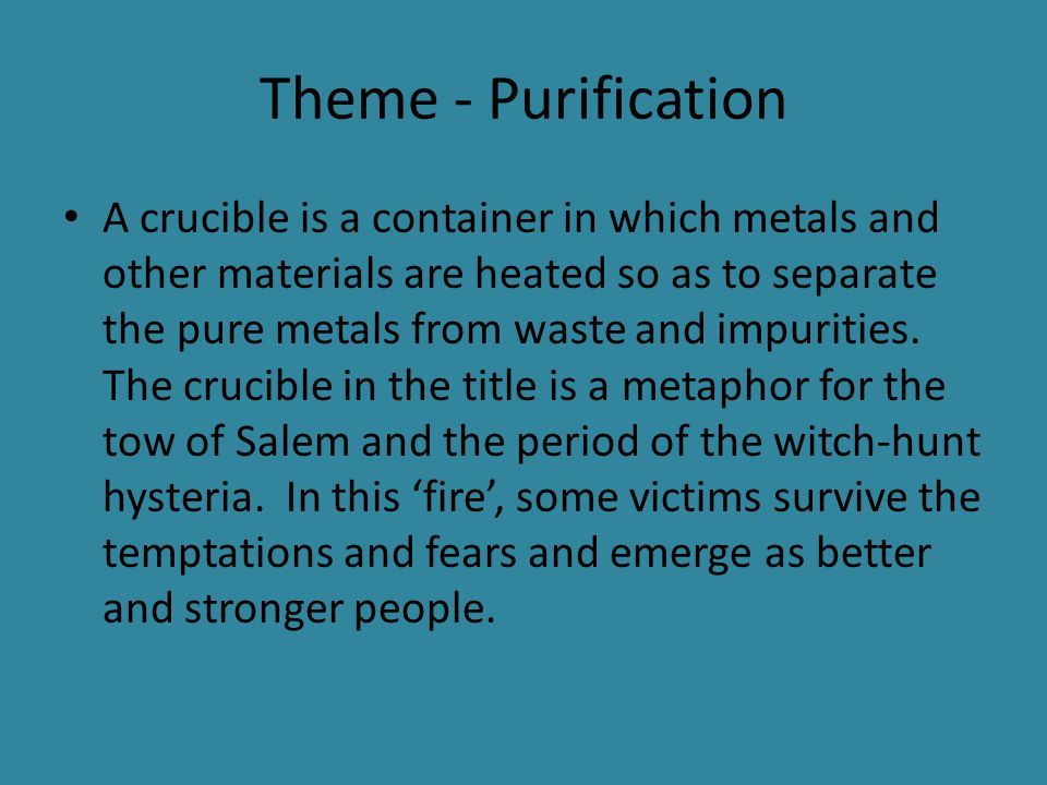 theme of guilt in the crucible Read this full essay on the crucible- themes of fear, guilt and revenge in life,  emotions can act as motivators for courses of action, particularly the feel.