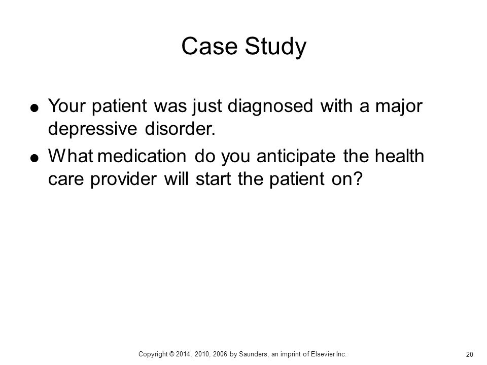 case study depression patient
