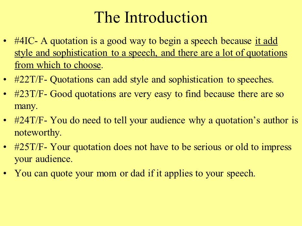 how to make a good speech introduction