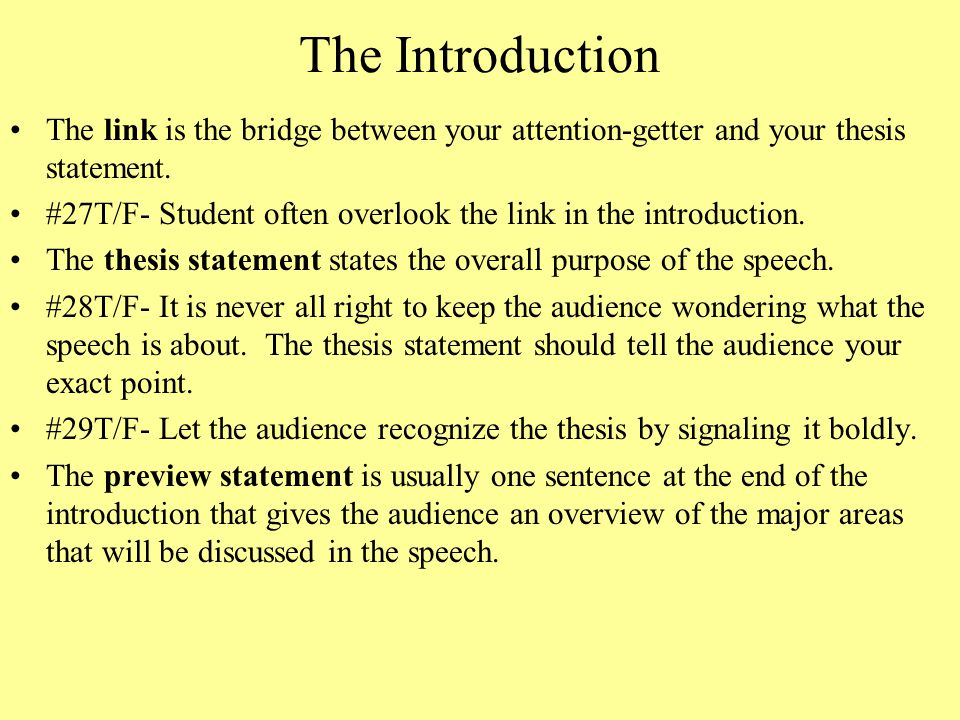 thesis in speech