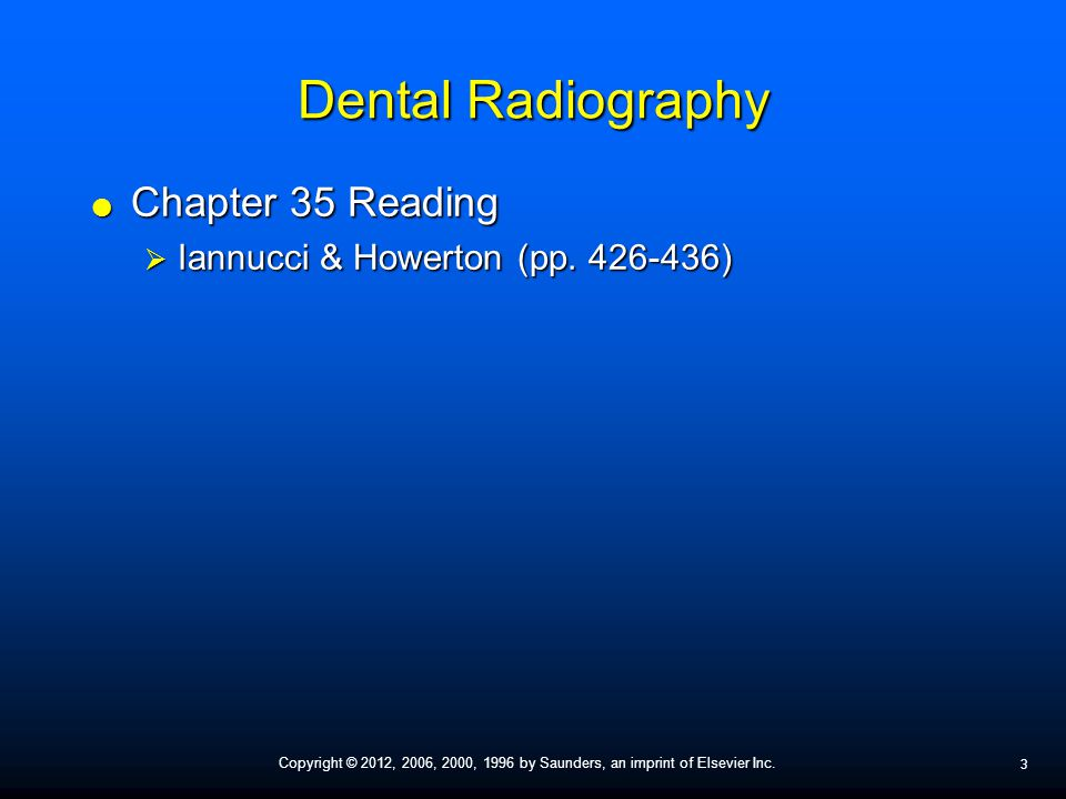 Dental Radiography Chapter 35 Reading