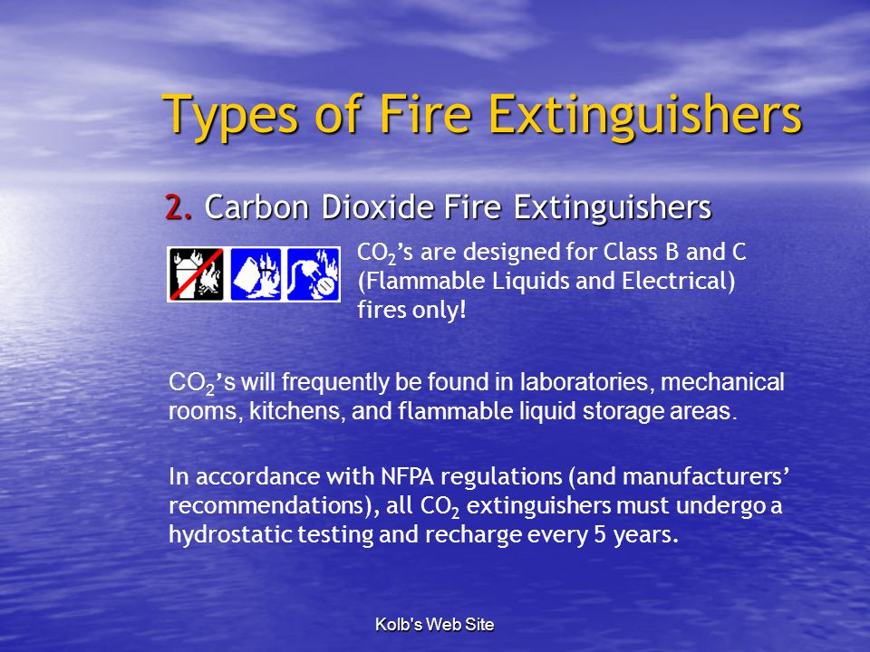 the main features of the types of fire extinguishers An abc dry chemical fire extinguisher made by amerex monoammonium phosphate, abc dry chemical, abe powder, tri-class, or multi-purpose dry chemical is a dry chemical.