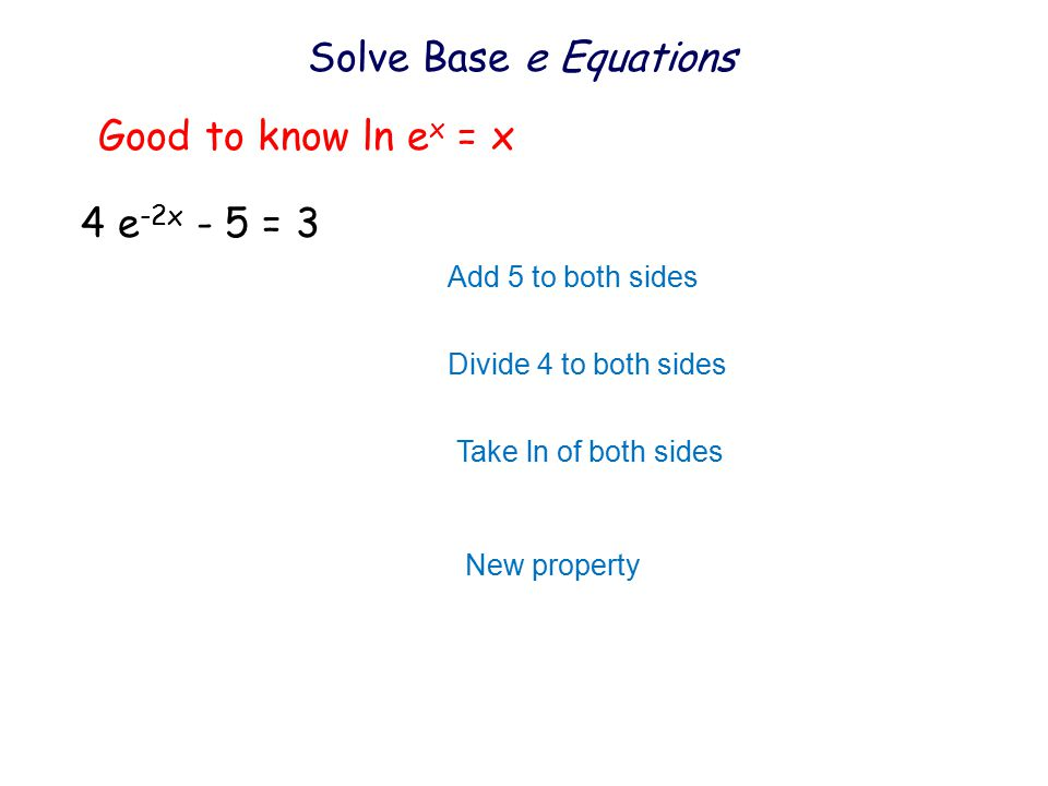 how to solve ln x 4