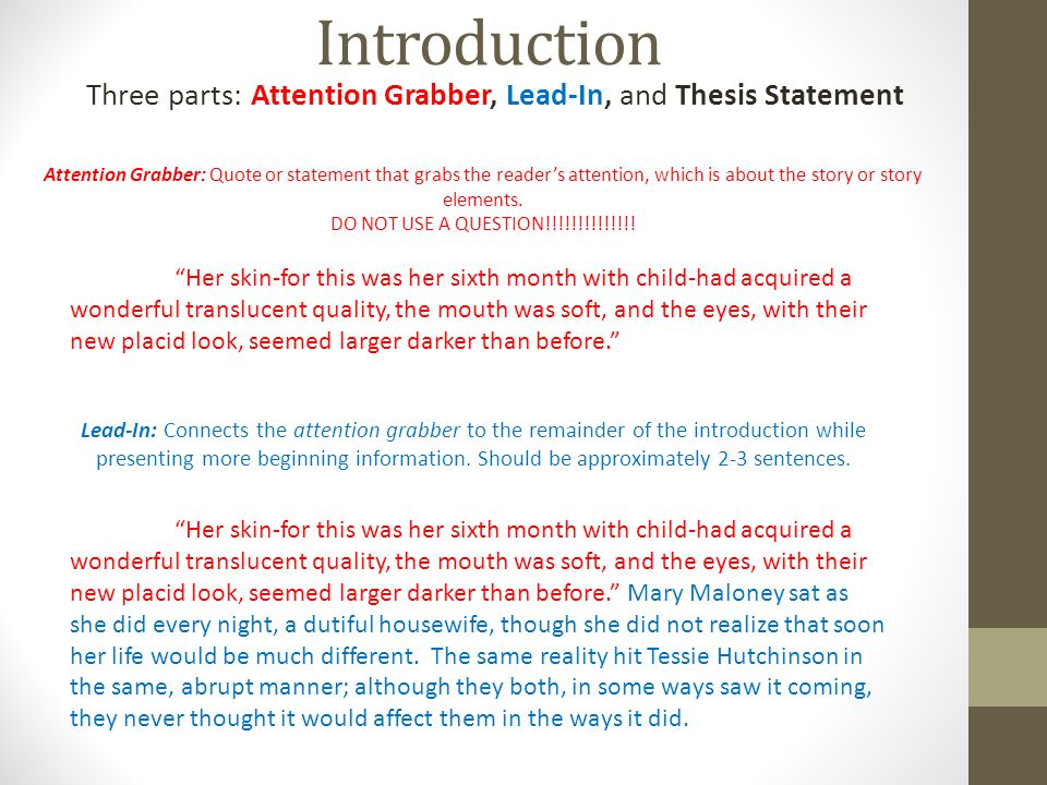 thesis statement for the member of the wedding Free wedding speech papers, essays, and research papers.