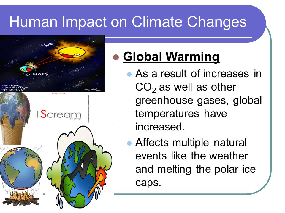 Human Impact on Climate Changes