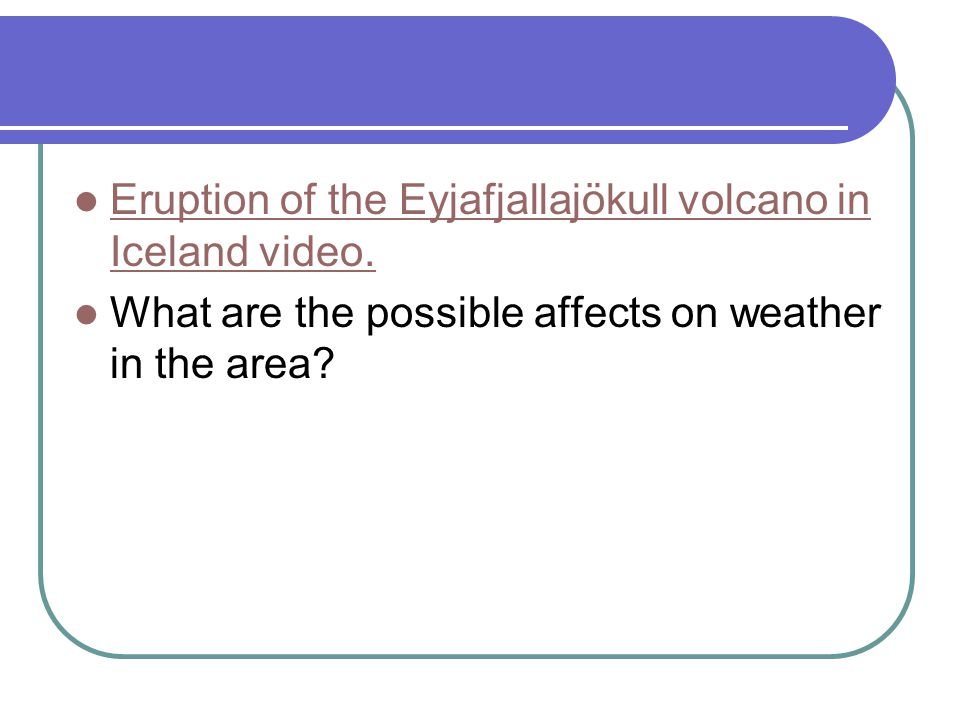 Eruption of the Eyjafjallajökull volcano in Iceland video.