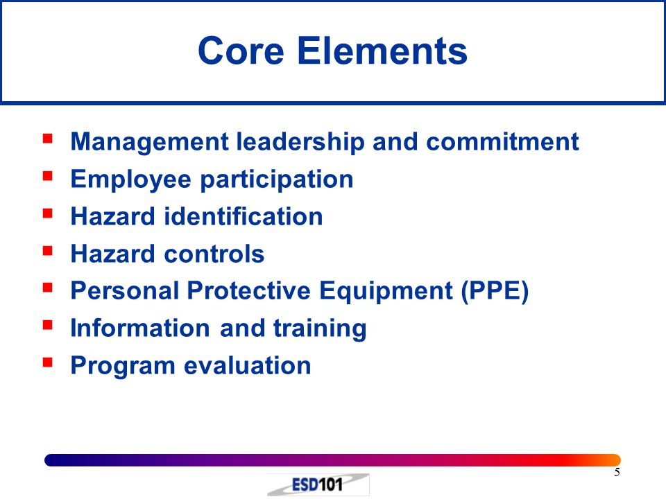 Core Elements Management leadership and commitment