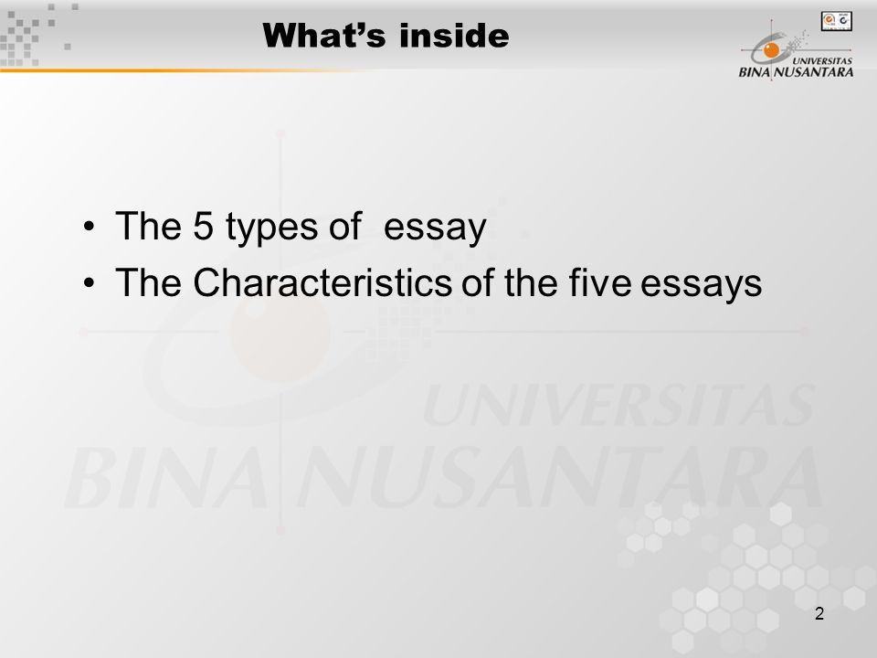 characteristics of essay writing