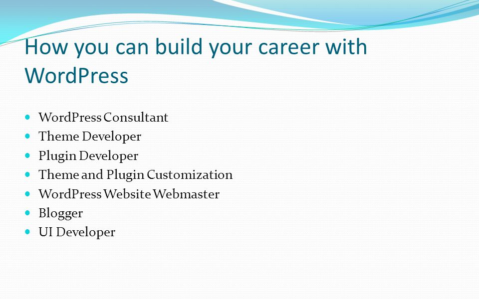 How you can build your career with WordPress