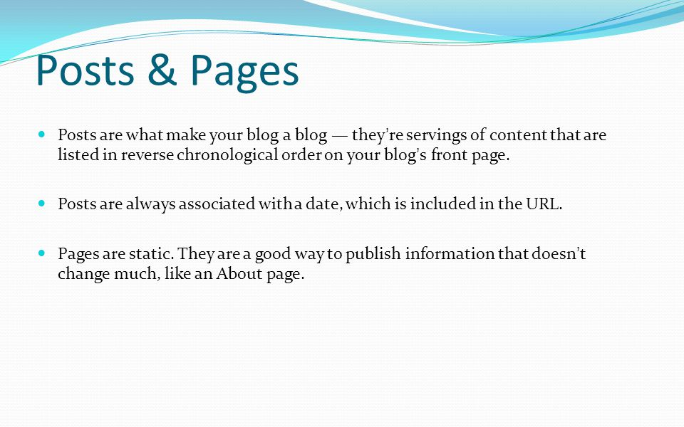 Posts & Pages