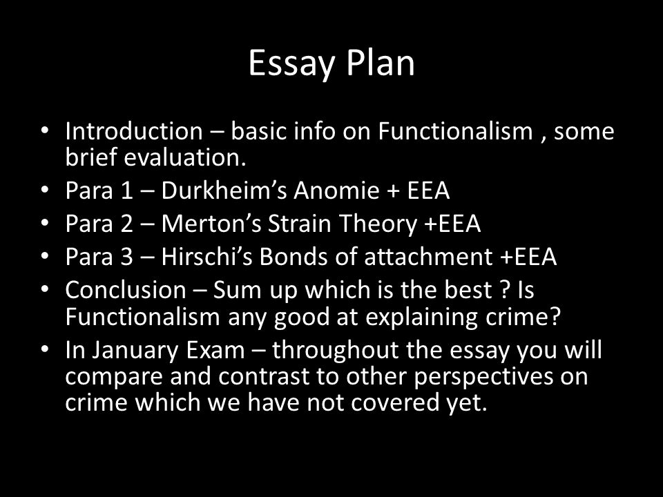 crime durkheim essay Free essay: crime and society how might durkheim's concept of anomie be  used to explain the deviant behaviour that is becoming.