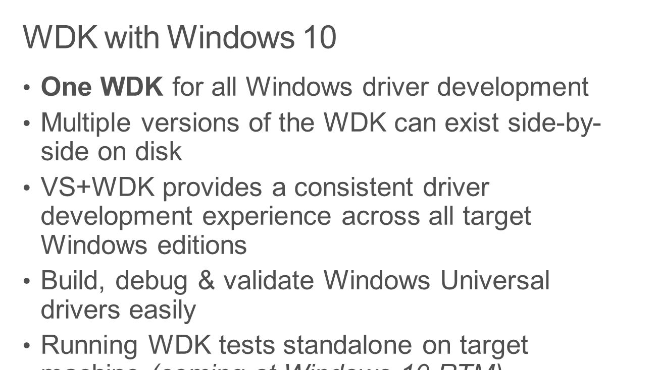 winddk windows 10